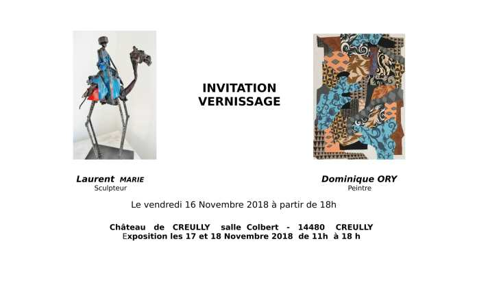 Invitation Exposition Creully 2018